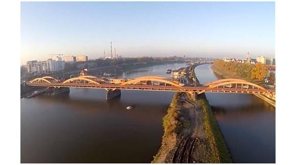 Wrocławskie mosty z lotu ptaka