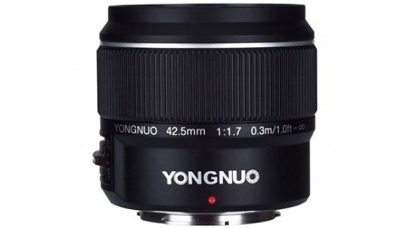 Yongnuo 42.5 mm f/1.7 dla mikro 4/3